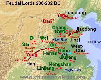 Xin Dynasty Map