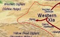 Western xia empire geography chinaknowledge map western xia xixia sciox Image collections
