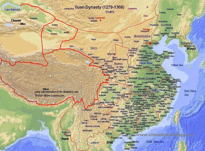 Yuan empire geography chinaknowledge sciox Image collections